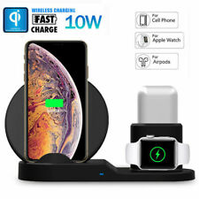 Qi Wireless Fast Charger Dock Stand For Airpods & Apple Watch iPhone iPad