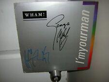 Wham signed lp *I'm Your Man *George Michael *Andrew Ridgeley*