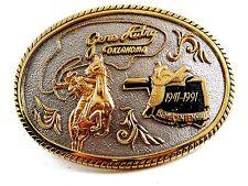 Buckle No. 19 by Award Designs Gene Autrey Oklahoma 1841 - 1991 Belt