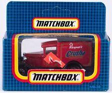 Matchbox MB 38 Ford Model A Rayner's Crusha Macau Casting 1987 MIB UK Issue