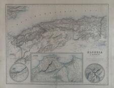 1859 Algeria Large Original Antique Map by G.H. Swanston & Fullarton