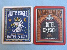 Beer COASTER ~ McMENAMINS Brewing Co White Eagle Hotel & Bar ~ Portland, OREGON