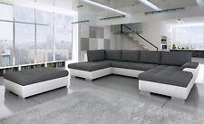 Sofa TOKIO maxi mit Hocker und Schlaffunktion Wohnlandschaft Couchgarnitur Couch