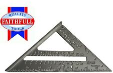 FAITHFULL 180mm ALUMINIUM CARPENTERS ROOFING SQUARE FAICSQUICK ROOFERS (A5B) # A