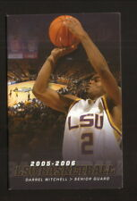 Louisiana State Tigers--2005-06 Basketball Pocket Schedule