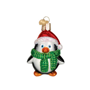 Old World Christmas PLAYFUL PENGUIN (16083)N Glass Ornament w/OWC Box