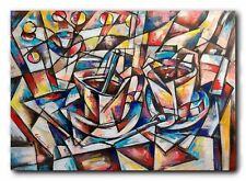 art abstract cubism modern original Painting  no frame