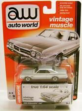 1966 '66 OLDS OLDSMOBILE 442 SILVER VINTAGE MUSCLE AUTO WORLD AW R5 DIECAST 2016