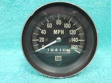 VINTAGE FORD CHEVY DODGE  STEWART WARNER BLUE LIGHT 160 MPH SPEEDOMETER  1017