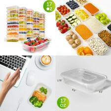 50 Pack Meal Prep Containers 17 oz 1 Compartment Reusable Plastic Food Storage