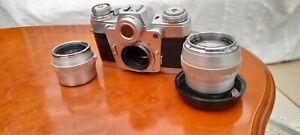 Zeiss ikon contarex bulls eye with two lenses