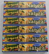 Sai Satya Nag Champa NATURAL Incense Sticks: Lot of 6 x 15 Gram Boxes = 90