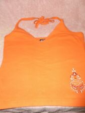 Harley Davidson Orange Tie Strings Around the Neck Top