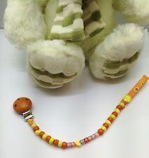 Catenella porta ciuccio/Catenella portaciuccio colorata realizzata a mano