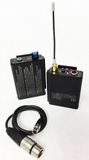 LECTROSONICS Wireless IFB System T2 Transmitter R1 Receiver Block 28 (GY)
