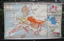 Wandkarte Germanische Völkerwanderung 183x112 migration by germanic tribes ~1938