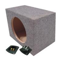 Single 12 Sealed Car Stereo Sub Box Sealed Bass Speaker Subwoofer Enclosure