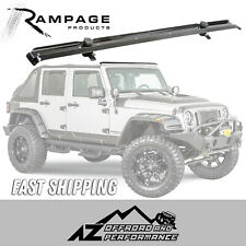 Rampage Windshield Header Channel 2007-2017 Jeep Wrangler JK 901007 Black