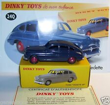 DINKY TOYS ATLAS FORD VEDETTE 49 BLEU MARINE REF 24Q 1/43 IN BOX