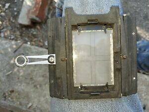 Graflex Graflok Camera spring back with glass.
