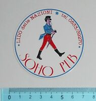 ADESIVO STICKER VINTAGE AUTOCOLLANT ORIGINALE ANNI'80 SOHO PUB 7x7 cm