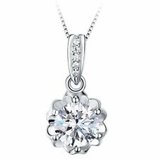 pendant cubic zirconia 925silver Japan Dazzarry cherry blossom necklace ladies