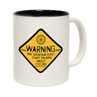 Warning May Start Talking About Cycling Novelty Cyclist MUG birthday funny gift