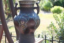 ANTIQUE CLOISONNE VASE 18 inches tall