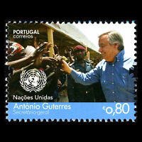 """Portugal 2017 - """"António Guterres"""" Secretary General United Nations - MNH"""