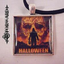 """Halloween Michael Myers Pendant with 16"""" Micro-suede Necklace Handmade Forward"""