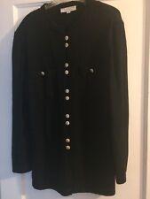 St. John Collection black knit cardigan sweater - size 14