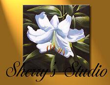 Großes ORIGINAL ÖL Lilie Blumen Künstler Sherry Preis