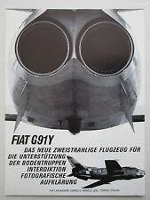 9/1967 PUB FIAT AVIAZIONE FIAT G.91 Y ITALIAN AIR FORCE ORIGINAL GERMAN AD