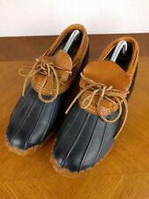 VTG LL Bean Maine Hunting Shoes Blue Sz 11 USA Duck Rubber Leather Ankle Boots