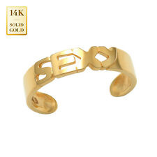 Toe Ring 14mm Inner Diameter 14K Real Solid Gold Sexy