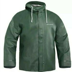 Grundens Brigg 40 Hooded Commercial Fishing Jacket Parka Rain Gear Green 5XL