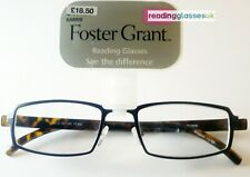 FOSTER GRANT READING GLASSES 'Barrie' Black +1.0 1.5 2.0 2.5 3.0 3.5  RRP£17.99