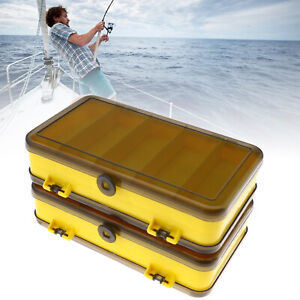 2pcs Two-sided Tackle Box Set Fishing Lures Storage Container Organizer Portable