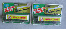 Lot of 2 Vintage 1970s Yatming Russ Toys Diecast Tractor Trailer Trucks NIP