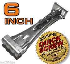 """100 6"""" inch Quick Screw Hidden Rain Gutter Hang 00004000 ers Brackets Hooks Clip Style"""