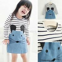 Baby Kids Toddlers Girls Dress Long Sleeves Party Princess Tutu Skirt Sz 2-6Y