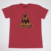 DEF LEPPARD T-Shirt Red Size Medium