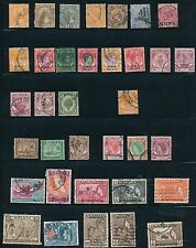 1894 - 1957 Malaya - Federated States, Strait Settlements (35) DIFF; CV $42