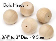 WOOD BALL DOLLS HEADS ~ 1