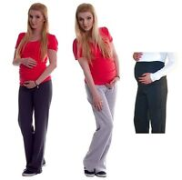 Maternity Pregnancy Tracksuit Bottoms Yoga Trousers Sweatpants Joggers Size 8-18