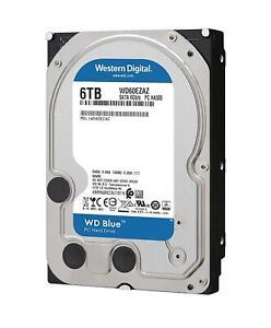 HARD DISK 3,5 WESTERN DIGITAL CAVIAR BLU 6TB SATA3 256MB 6000GB WD60EZAZ 5400rpm