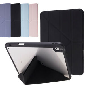 For iPad Pro Air 2 4 5 6 7 8th 9th Gen Case Smart Cover PU Leather Folding Stand