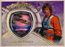 2018 Topps Star Wars Masterwork Purple Galactic Emblem Pilot Luke Skywalker 3/50