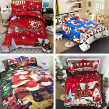 3pcs/set Night Bedding Sets Christmas Duvets Covers Twin Queen King Size Soft