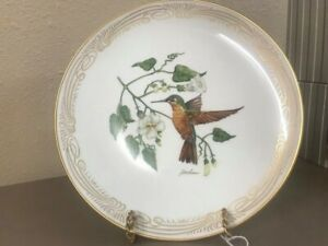 Brazilian Ruby Hummingbird - Boehm Collector Plate Bone China